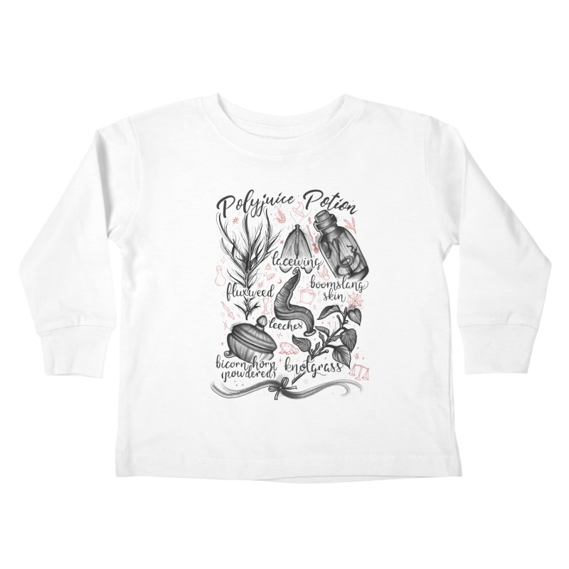 Polyjuice Potion Kids Toddler Longsleeve T-Shirt by Toadhouse Editions