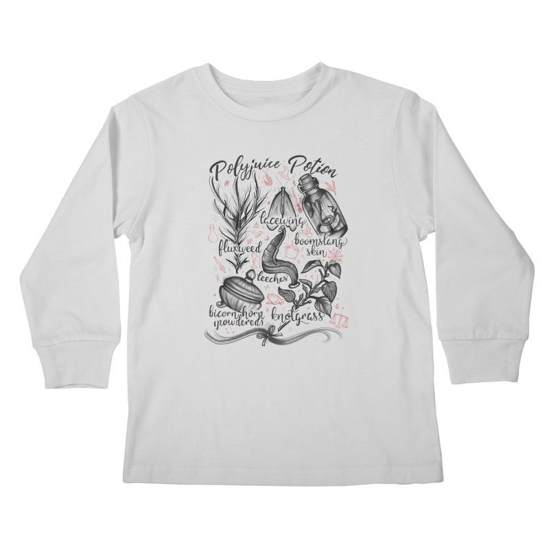 Polyjuice Potion Kids Longsleeve T-Shirt by Toadhouse Editions