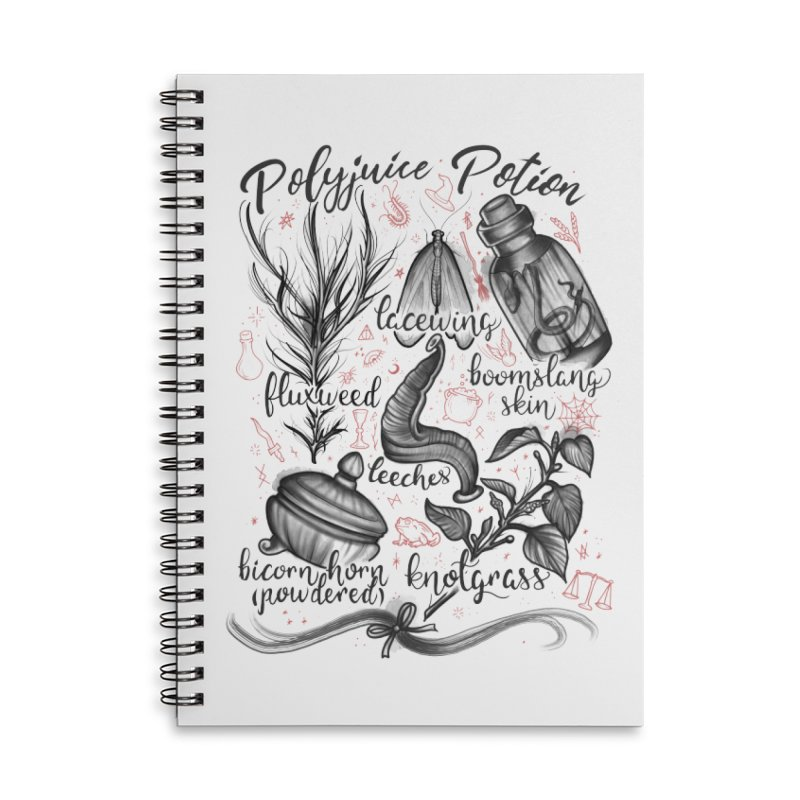 Polyjuice Potion Accessories Lined Spiral Notebook by Toadhouse Editions