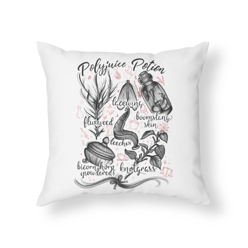 Polyjuice Potion Home Throw Pillow by Toadhouse Editions