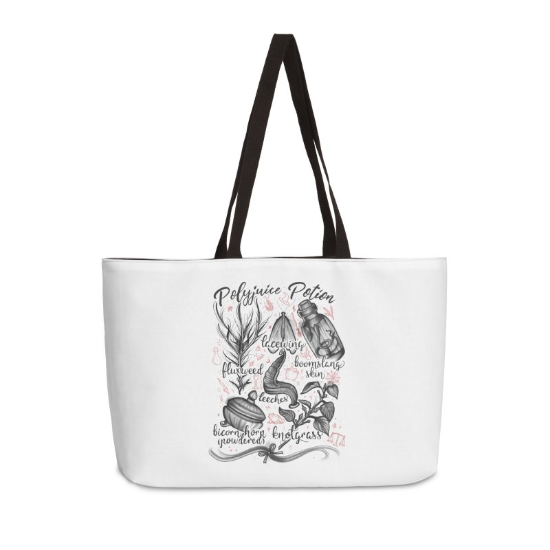 Polyjuice Potion Accessories Weekender Bag Bag by Toadhouse Editions