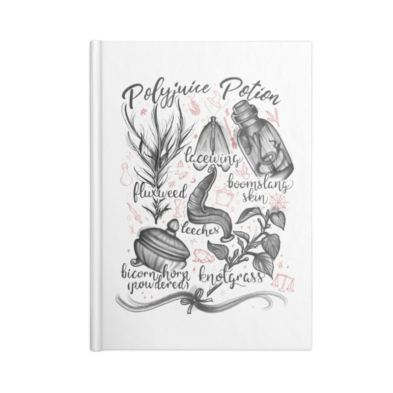 Polyjuice Potion Accessories Lined Journal Notebook by Toadhouse Editions