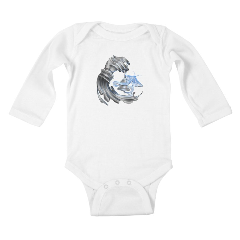 The Wisp Kids Baby Longsleeve Bodysuit by Toadhouse Editions