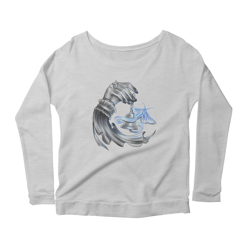 The Wisp Women's Scoop Neck Longsleeve T-Shirt by Toadhouse Editions