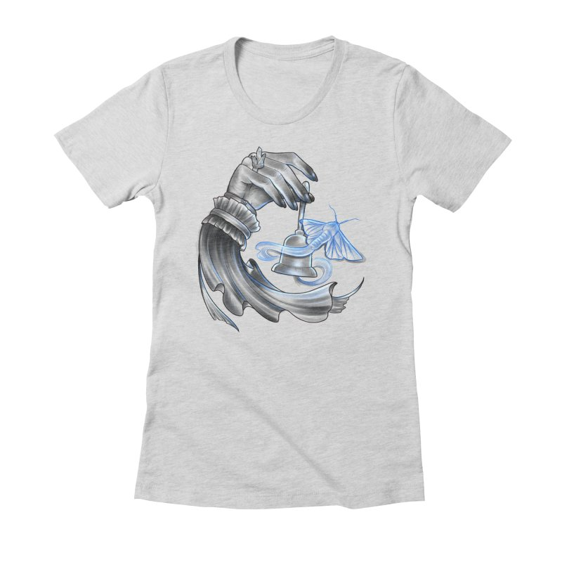 The Wisp Women's Fitted T-Shirt by Toadhouse Editions