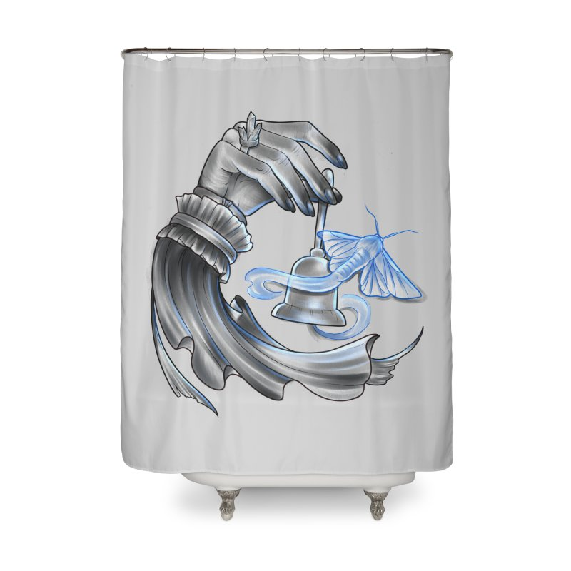 The Wisp Home Shower Curtain by Toadhouse Editions