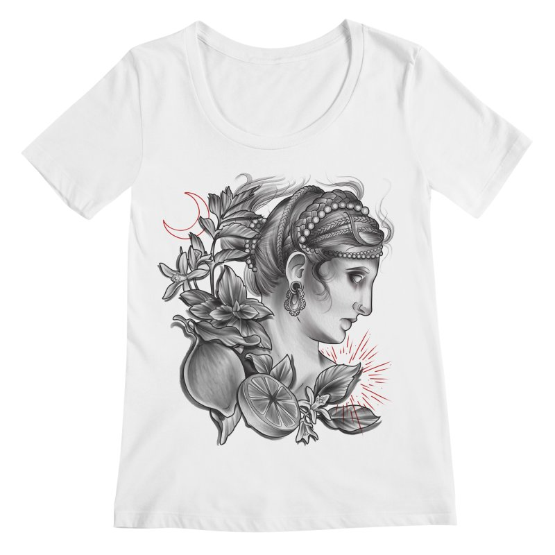 Limonana Women's Regular Scoop Neck by Toadhouse Editions