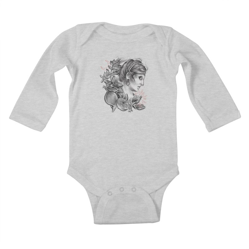 Limonana Kids Baby Longsleeve Bodysuit by Toadhouse Editions