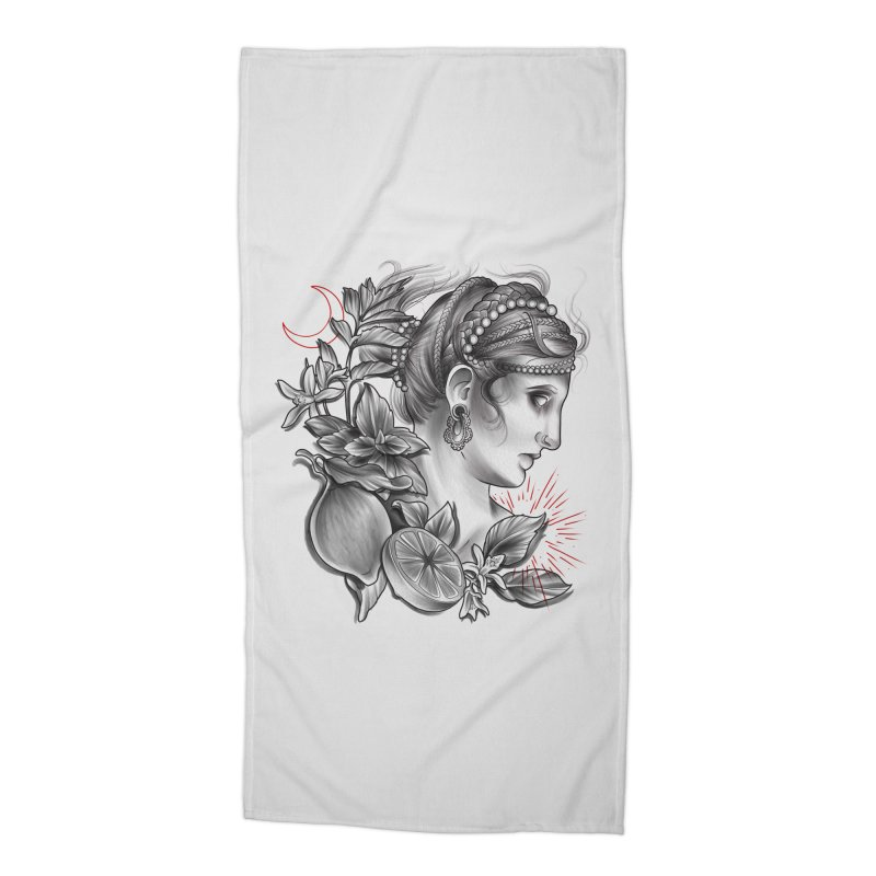 Limonana Accessories Beach Towel by Toadhouse Editions