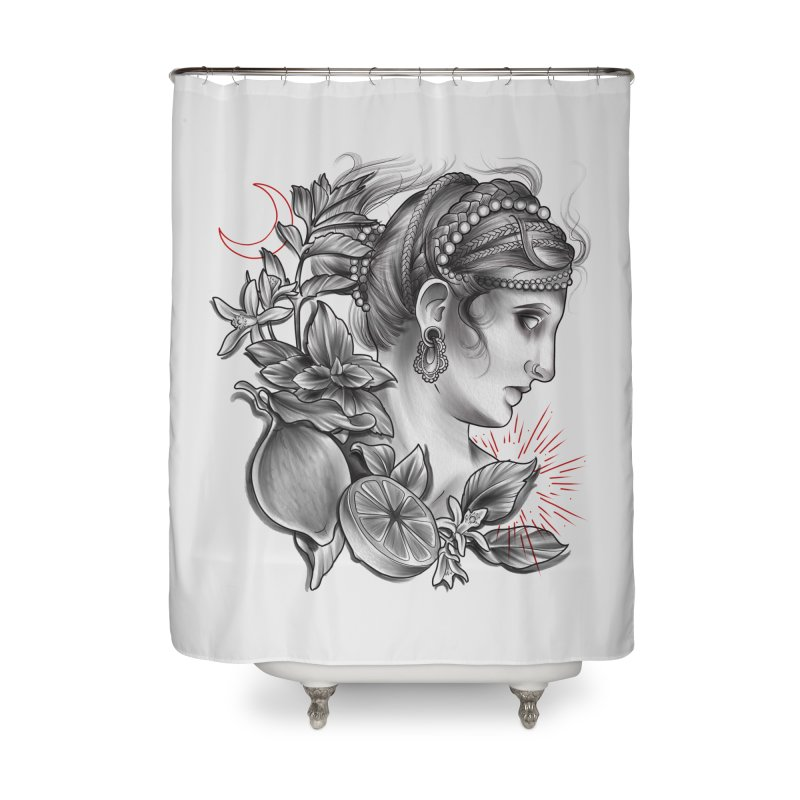 Limonana Home Shower Curtain by Toadhouse Editions
