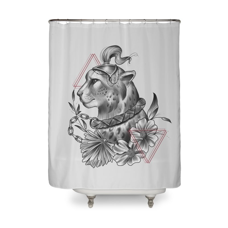 Acinonyx Home Shower Curtain by Toadhouse Editions