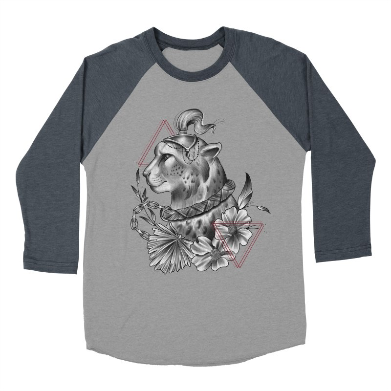 Acinonyx Women's Baseball Triblend Longsleeve T-Shirt by Toadhouse Editions