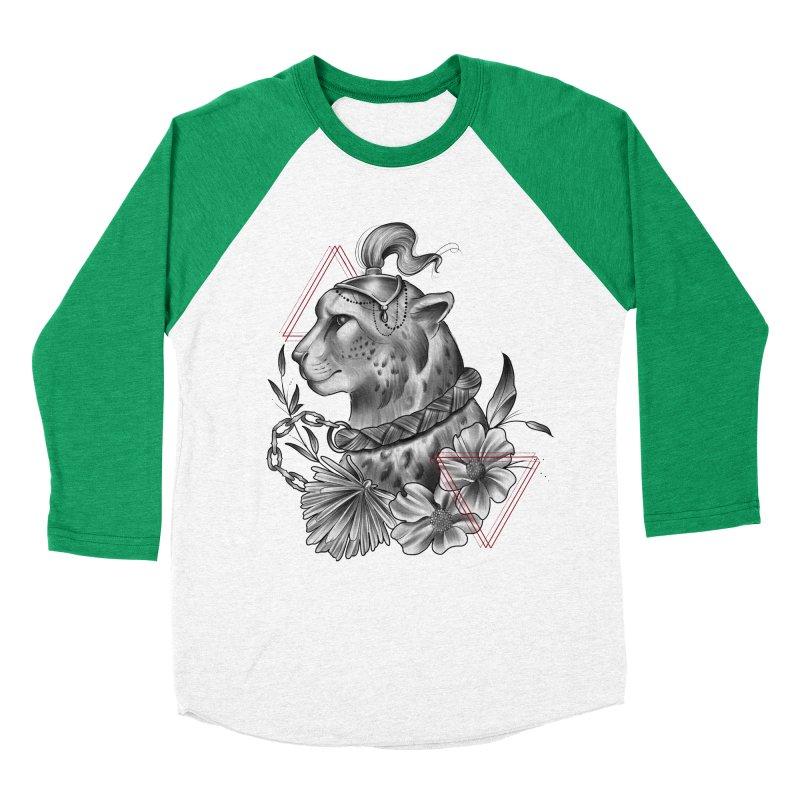 Acinonyx Men's Baseball Triblend Longsleeve T-Shirt by Toadhouse Editions