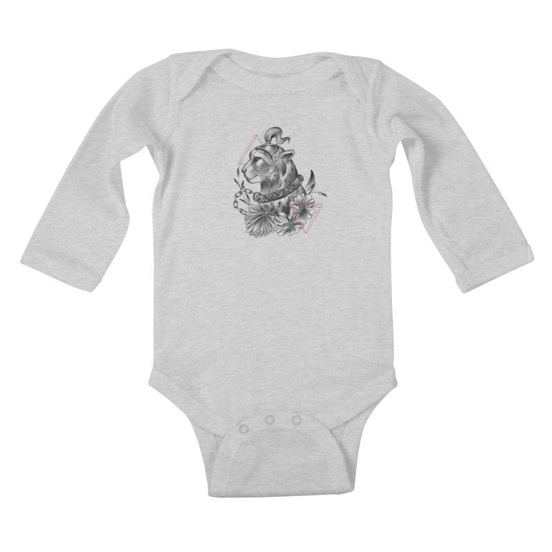Acinonyx Kids Baby Longsleeve Bodysuit by Toadhouse Editions