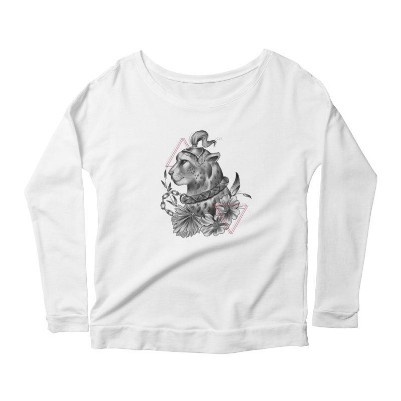 Acinonyx Women's Scoop Neck Longsleeve T-Shirt by Toadhouse Editions