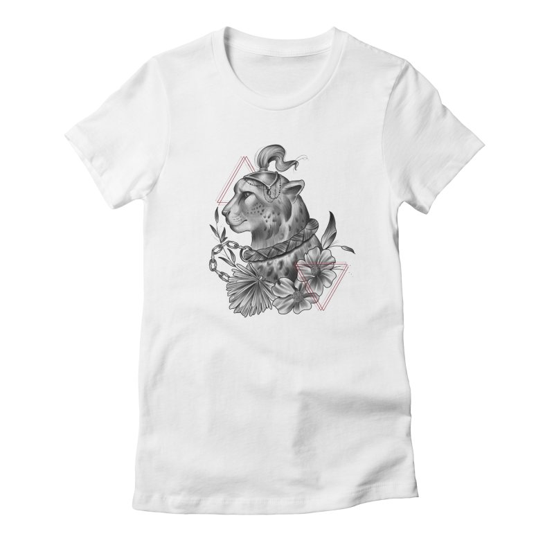 Acinonyx Women's Fitted T-Shirt by Toadhouse Editions