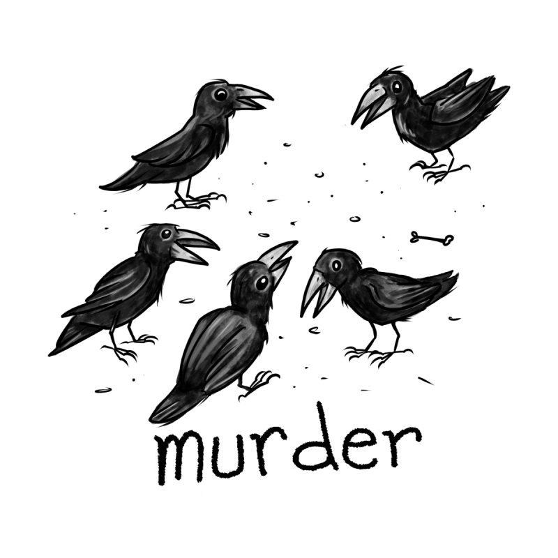 murder of crows Kids Baby Bodysuit by Toadhouse Editions