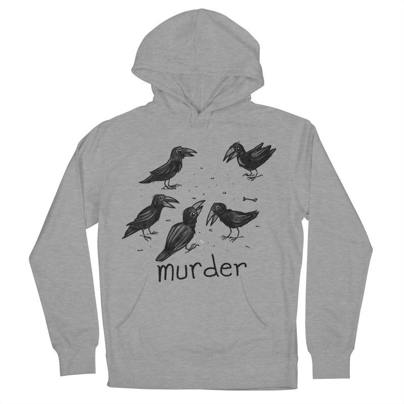 murder of crows Women's French Terry Pullover Hoody by Toadhouse Editions