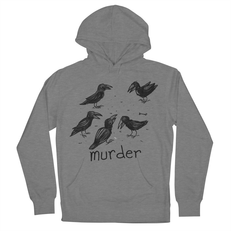 murder of crows Men's French Terry Pullover Hoody by Toadhouse Editions