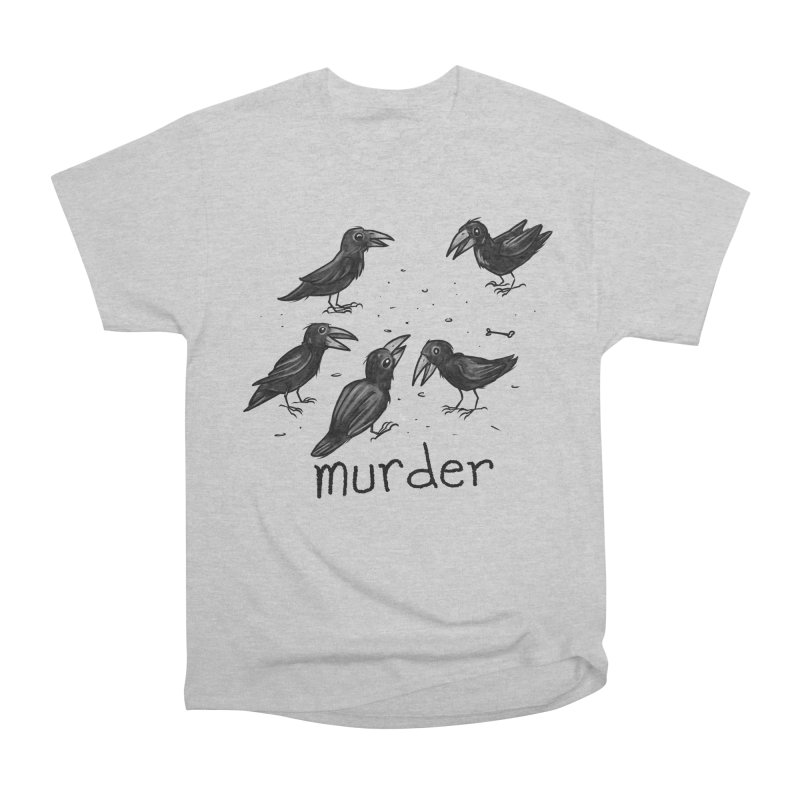 murder of crows Men's Heavyweight T-Shirt by Toadhouse Editions