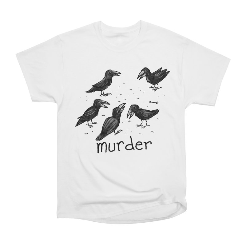 murder of crows Women's Heavyweight Unisex T-Shirt by Toadhouse Editions