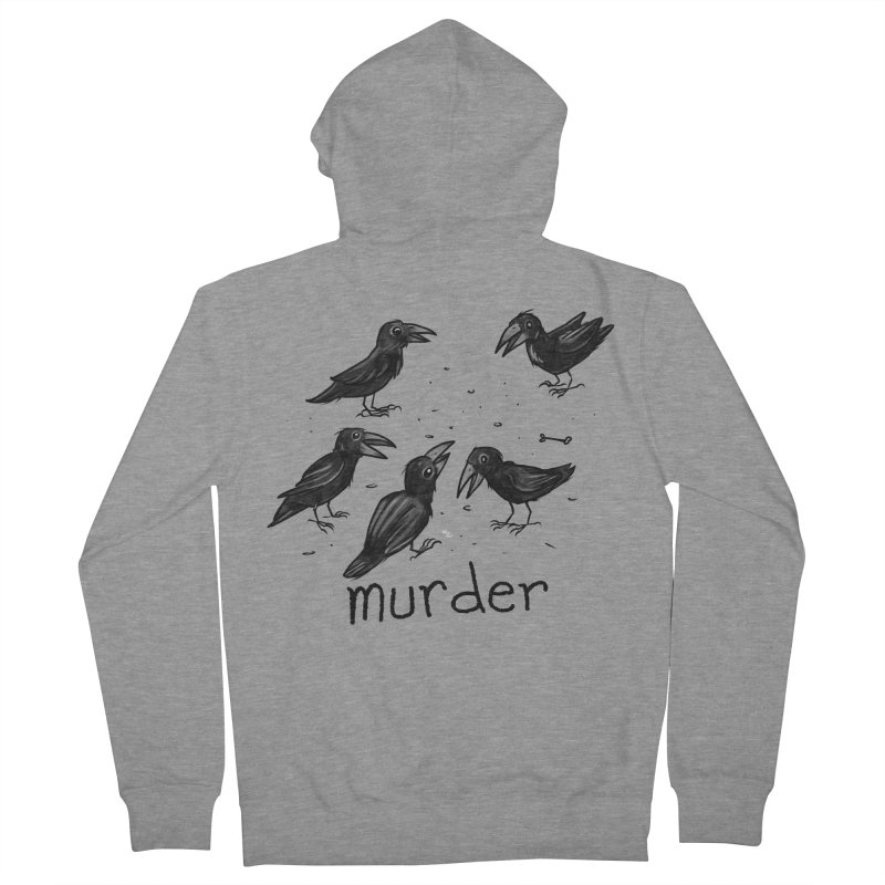 murder of crows Women's French Terry Zip-Up Hoody by Toadhouse Editions