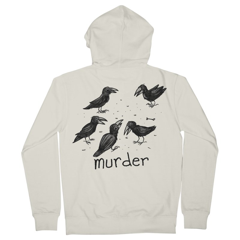 murder of crows Men's French Terry Zip-Up Hoody by Toadhouse Editions