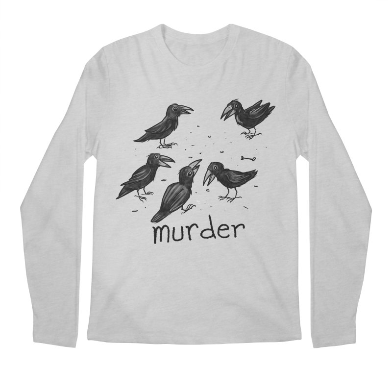 murder of crows Men's Regular Longsleeve T-Shirt by Toadhouse Editions