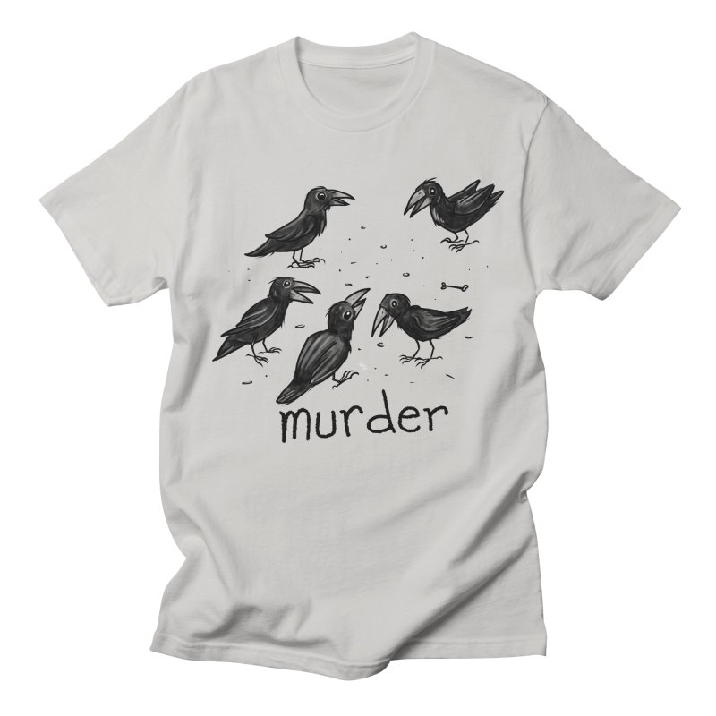 murder of crows Women's Regular Unisex T-Shirt by Toadhouse Editions
