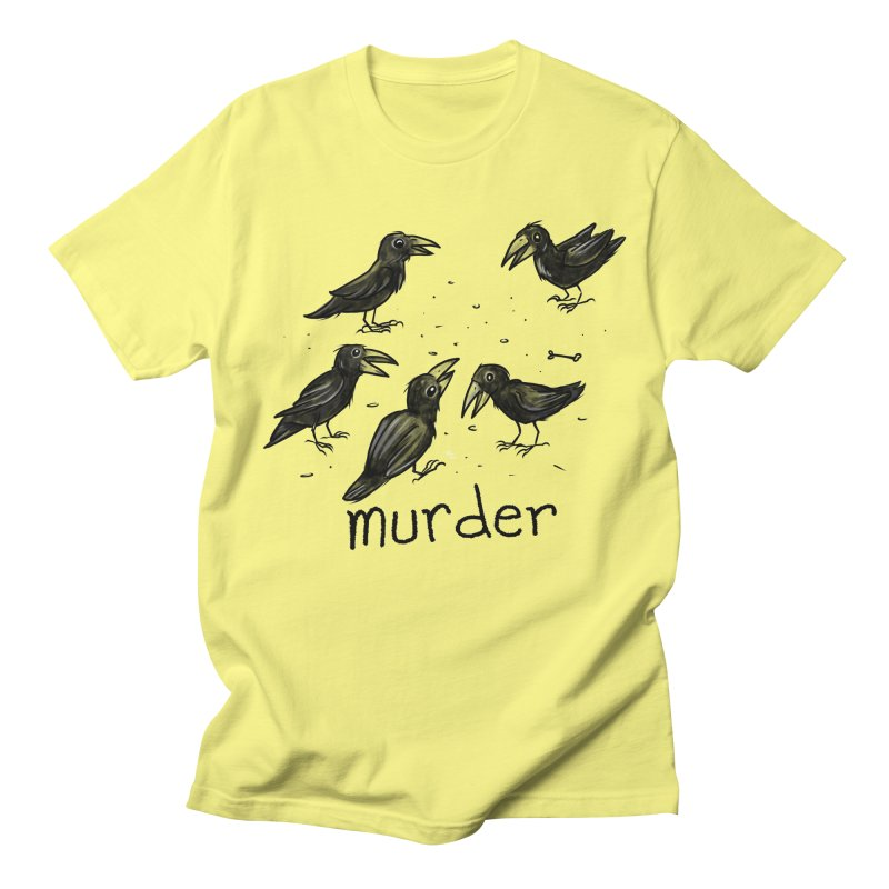 murder of crows Men's Regular T-Shirt by Toadhouse Editions