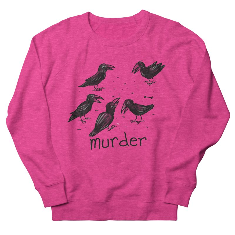 murder of crows Men's French Terry Sweatshirt by Toadhouse Editions
