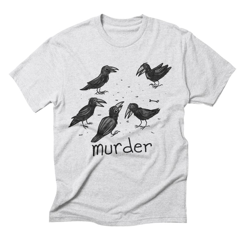 murder of crows Men's Triblend T-Shirt by Toadhouse Editions