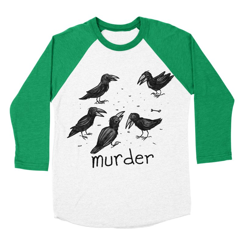 murder of crows Women's Baseball Triblend Longsleeve T-Shirt by Toadhouse Editions