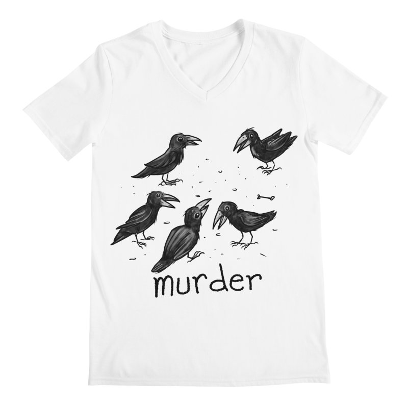 murder of crows Men's Regular V-Neck by Toadhouse Editions