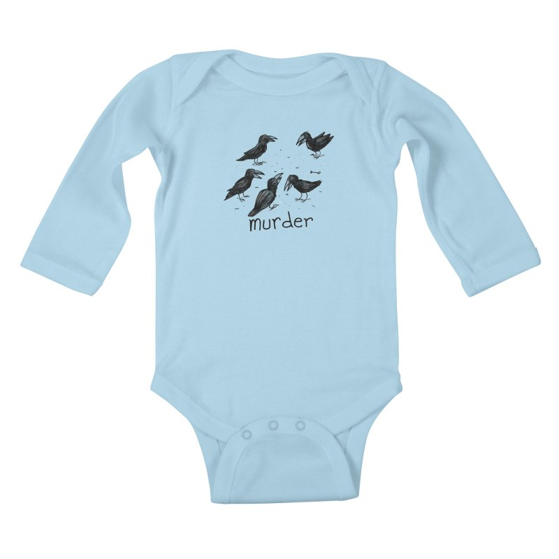 murder of crows Kids Baby Longsleeve Bodysuit by Toadhouse Editions