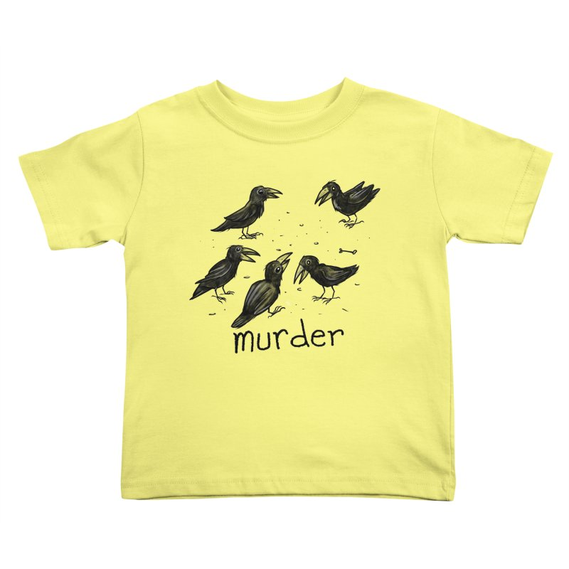 murder of crows Kids Toddler T-Shirt by Toadhouse Editions