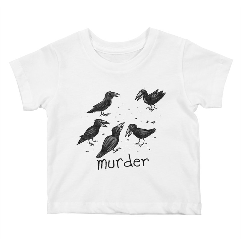 murder of crows Kids Baby T-Shirt by Toadhouse Editions