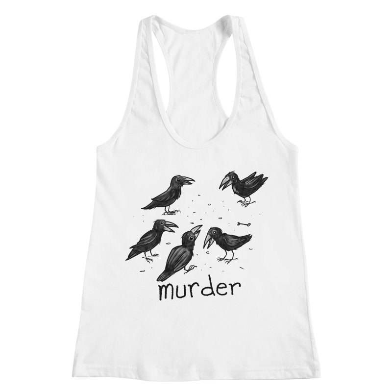 murder of crows Women's Racerback Tank by Toadhouse Editions