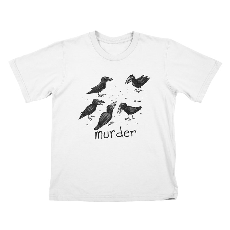 murder of crows Kids T-Shirt by Toadhouse Editions