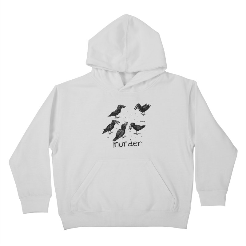 murder of crows Kids Pullover Hoody by Toadhouse Editions