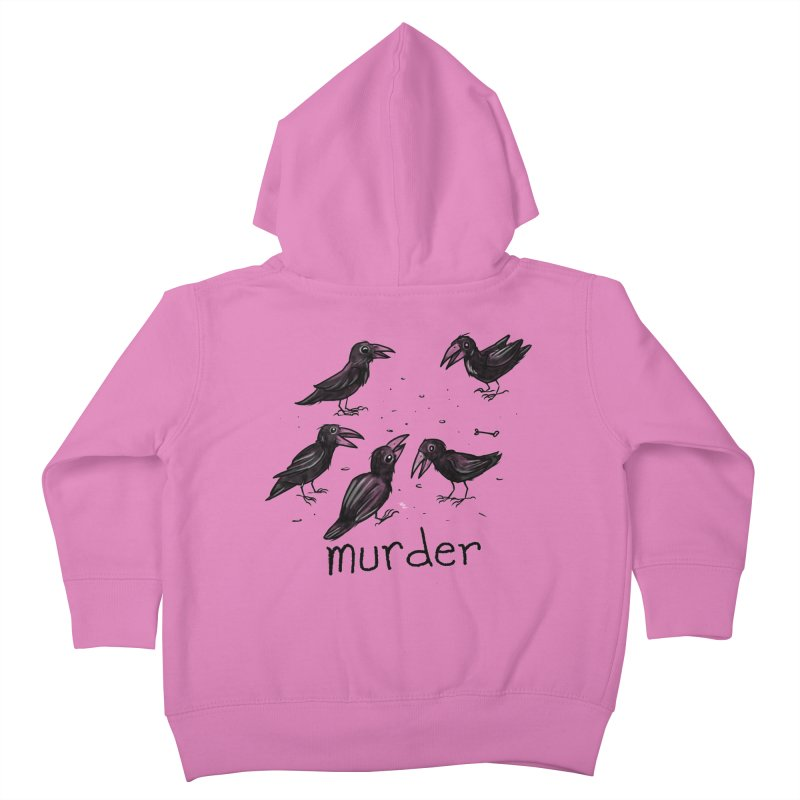 murder of crows Kids Toddler Zip-Up Hoody by Toadhouse Editions