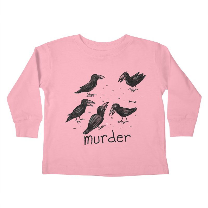 murder of crows Kids Toddler Longsleeve T-Shirt by Toadhouse Editions