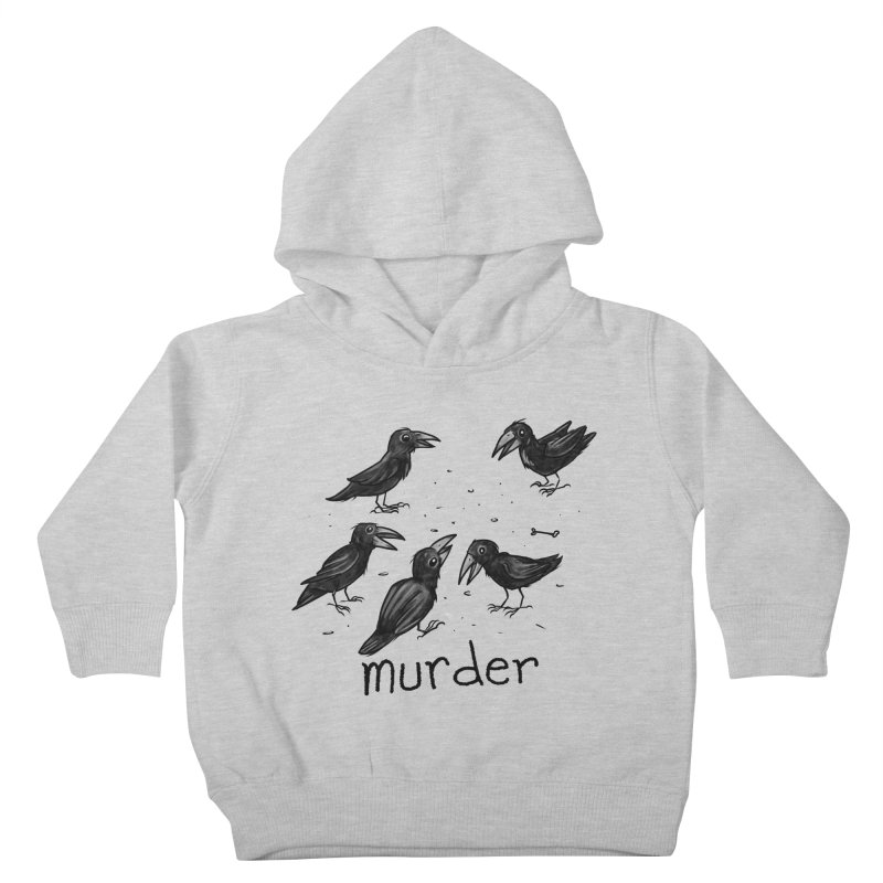 murder of crows Kids Toddler Pullover Hoody by Toadhouse Editions