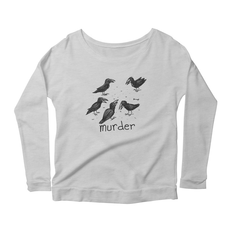 murder of crows Women's Scoop Neck Longsleeve T-Shirt by Toadhouse Editions