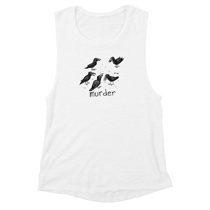 murder of crows Women's Muscle Tank by Toadhouse Editions