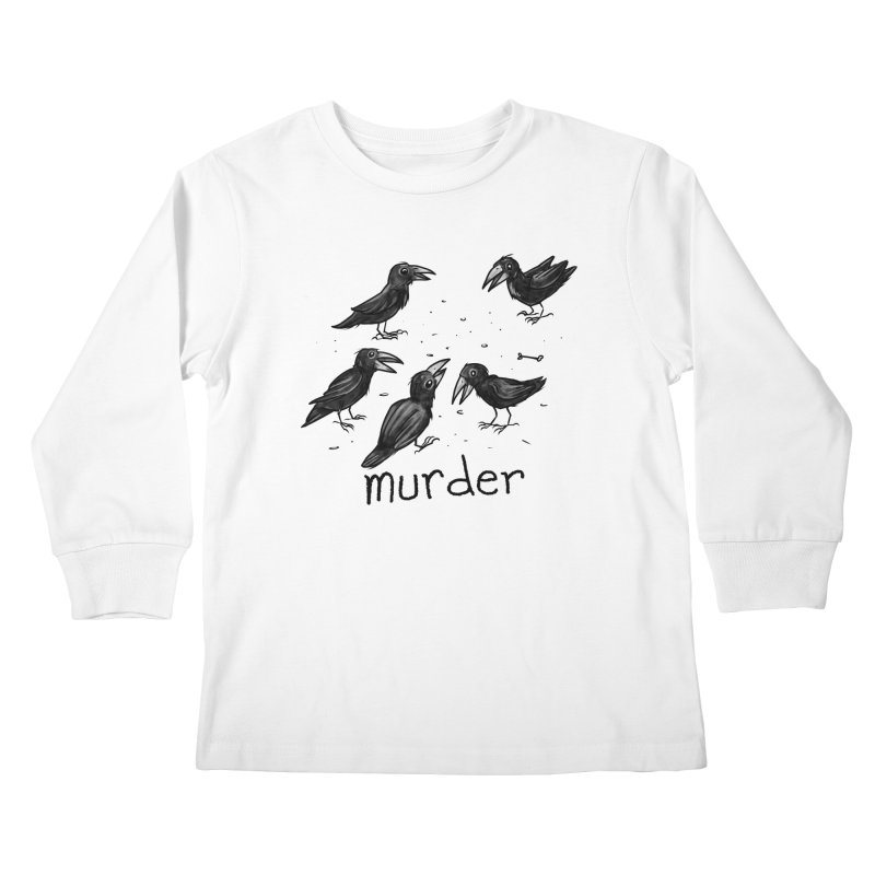 murder of crows Kids Longsleeve T-Shirt by Toadhouse Editions