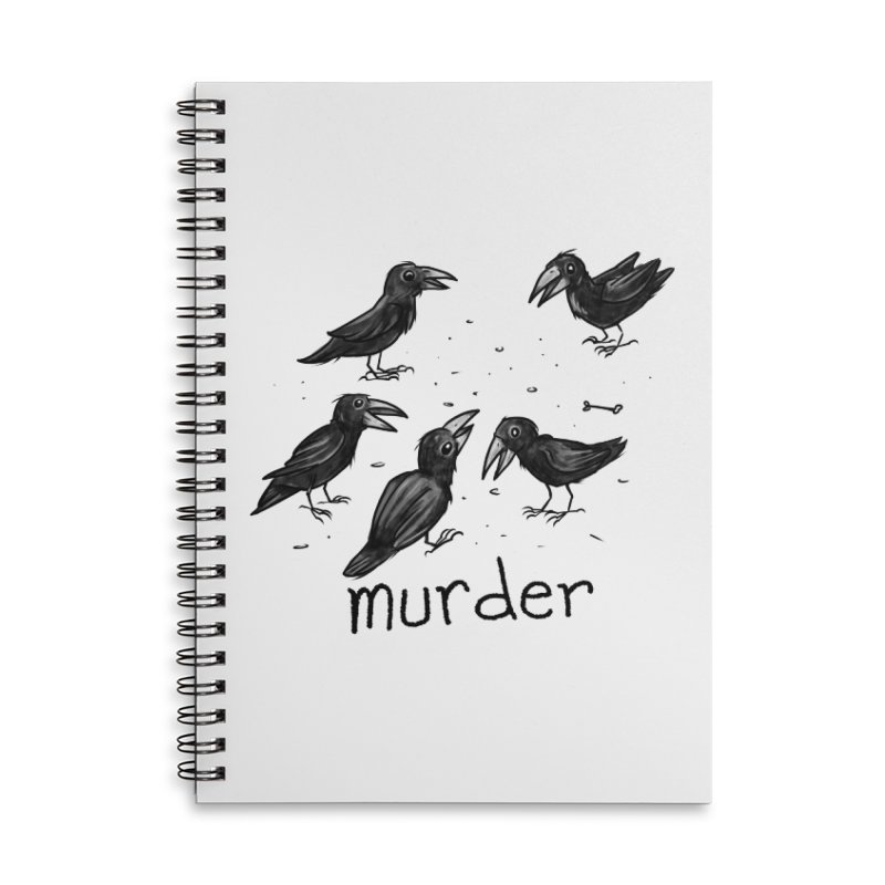 murder of crows Accessories Lined Spiral Notebook by Toadhouse Editions