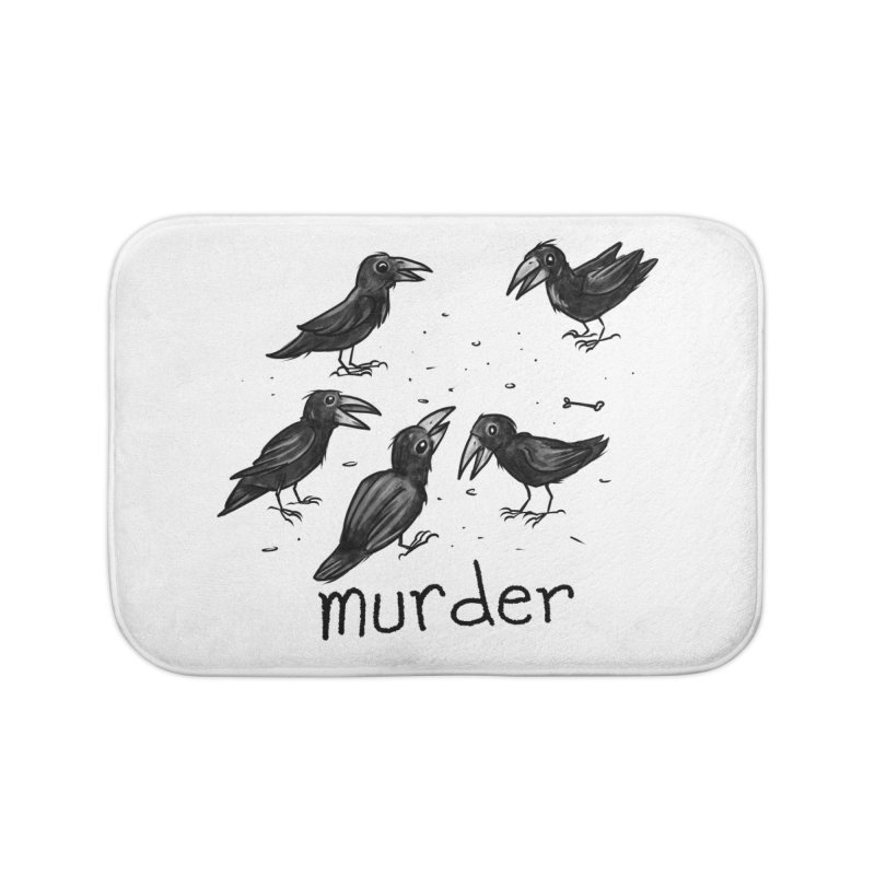 murder of crows Home Bath Mat by Toadhouse Editions
