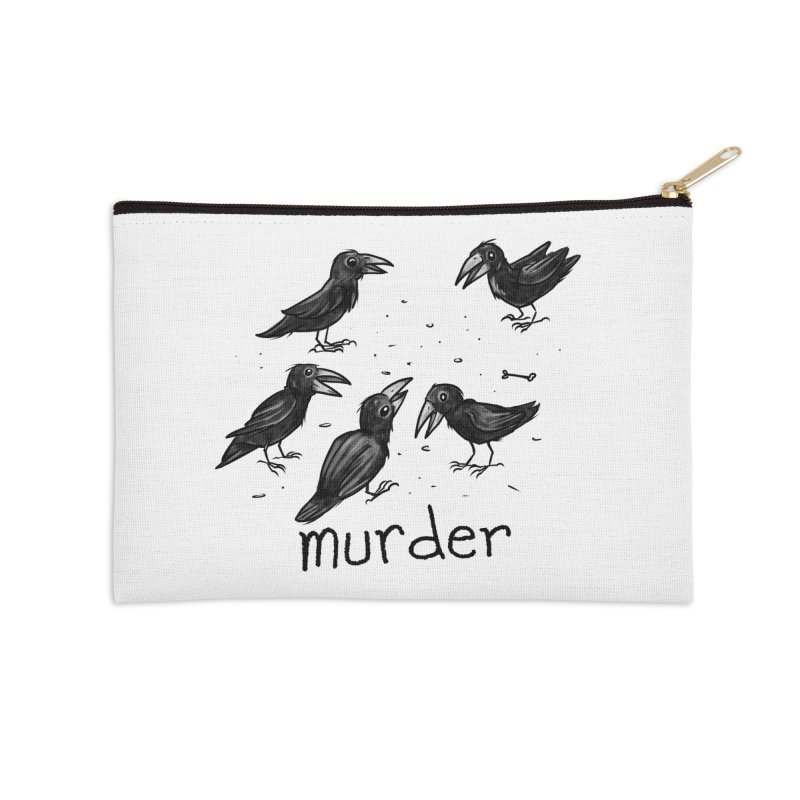 murder of crows Accessories Zip Pouch by Toadhouse Editions