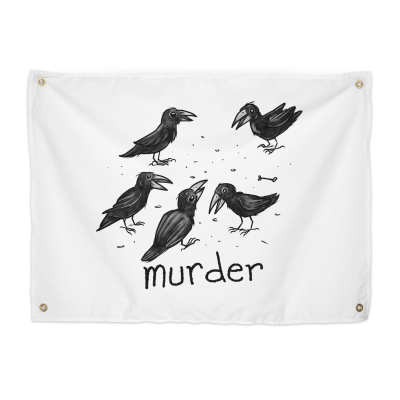 murder of crows Home Tapestry by Toadhouse Editions